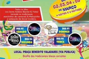 Carnaval de rua de Campos Altos 2019